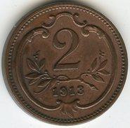 Autriche Austria 2 Heller 1913 KM 2801 - Oesterreich