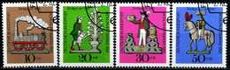 BRD - Michel 604 / 607 - OO Gestempelt (A) - Zinnfiguren, Wohlfahrt 69 - [7] West-Duitsland