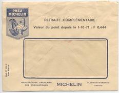 """PNEU MICHELIN  - Enveloppe - """" Retraite Complémentaire """" - Valeur Du Point - 1971 - Francia"""