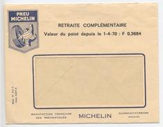 """PNEU MICHELIN  - Enveloppe - """" Retraite Complémentaire """" - Valeur Du Point - 1970 - Francia"""