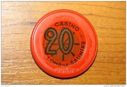 "Jeton De 20 Francs ""Casino De Lons-le-Saunier"" Casino Token - Casino"