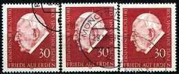 A11-13-8) BRD - 3x Michel 609 - OO Gestempelt - Papst Johannes XXIII. - [7] République Fédérale