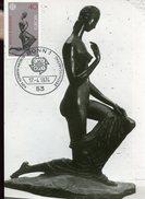 16563, Germany, Maximum 1974 Sculpture Of  Wilhelm Lehmbruck, Die Kniende, Bronze, Naked Woman - Maximum Kaarten