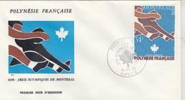 POLYNESIE - FDC 1976 - Yvert PA 111 Jeux Olympiques Montréal - FDC