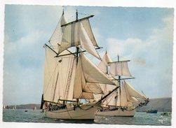 """Bateau-Voiliers-Goélettes De La Marine Nationale""""L""""étoile Et La Belle Poule"""" Cpsm 15 X 10 N°MX3800 éd Jos......à Saisir - Sailing Vessels"""