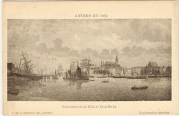 ANVERS  EN  1860    -----   Panorama De La Ville Et De La Rade - Antwerpen