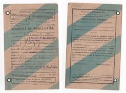 MILITARIA - FASCICULE DE MOBILISATION CLASSE 1921 - COMPAGNIE DES CHEMINS DE FER D'ORLEANS - - Historical Documents