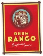 """Ancienne étiquette Rhum   Rango Supèrieur Vieux Importé De L'union Française  Cie Métropolitaine Des Rhum """" Lion"""" - Rhum"""