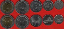 Yemen Set Of 5 Coins: 1 - 20 Rials 1993-2009 UNC - Yémen