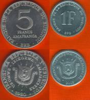 Burundi 1 + 5 Francs 1980-2003 UNC - Burundi