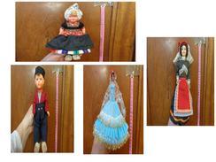 Lot De 4 Poupee Folklorique-(pour La Plupart Ancienne--- Region A Determiner- - Dolls