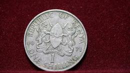 Kenya 1 Shilling 1971 Km#14. (inv870) - Kenya