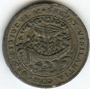Médaille Medal Jeton Pays-Bas Netherland 1606 Modicae Fidei Qvid Timetis S.C - Servat Vigilantia Consort - Copy ? - Royaux/De Noblesse