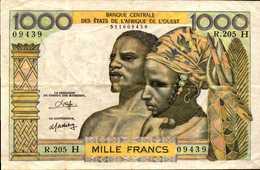 NIGER  1000 FRANCS Du 1980nd  Pick 603o  RARE - Niger