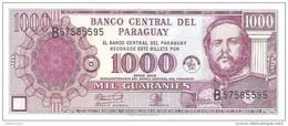 Paraguay - Pick 221  - 1000 Guaranies 2002 - Unc - Paraguay