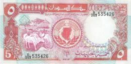 Sudan - Pick 45 - 5 Pounds 1991 - Unc - Sudan