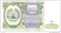 Tajikistan - Pick 7 - 200 Rubles 1994 - Unc - Tadjikistan