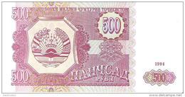 Tajikistan - Pick 8 - 500 Rubles 1994 - Unc - Tagikistan
