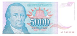 Yugoslavia - Pick 141 - 5000 Dinara 1994 - Unc - Jugoslavia