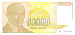 Yugoslavia - Pick 143 - 500.000 (500000) Dinara 1994 - Unc - Jugoslavia