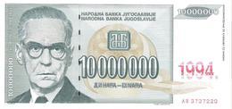 Yugoslavia - Pick 144 - 10.000.000 Dinara 1994 - Unc - Jugoslavia