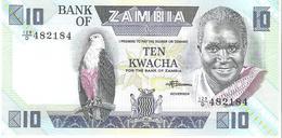 Zambia - Pick 26e - 10 Kwacha 1980 -1988 - Unc - Zambie