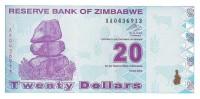 Zimbabwe - Pick 95 - 20 Dollars 2009 - Unc - Zimbabwe