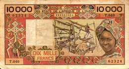 NIGER  10000 FRANCS Du 1989  Pick 609i - Niger