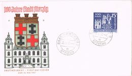 20668. Carta SAARBRUCEN (Sarre) 1957. 100 Jahre Stadt Merzig - 1957-59 Bundesland