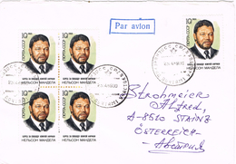 20669. Carta Aerea RUSIA 1989. NELSON MANDELA, Revolucion Sudafrica - 1923-1991 USSR