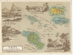 Chromo Taiti Batavai Marquises Hiva Hoa Nouka Hiva Toubouai  Tuamotou Moorea Gambier Rapa Ilot De La Reine Etc - French Polynesia