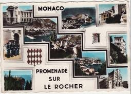 Monaco-Promenade Sur Le Rocher, Multivues.Palais, Guérite, Armoiries, La Garde,Monté-Carlo. - Multi-vues, Vues Panoramiques