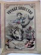 """Livret Imagerie D'Épinal , Récit """"Voyage Sous L'eau"""" , Très Belles Chromos Couleur - Début XXè - Non Classés"""