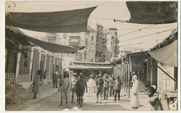 Djeddah Real Photo Street With British Soldiers 1929 Holes In The Corners - Arabie Saoudite