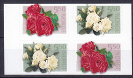 Norway 2003 Mi. 1455 Do/Du-1456 Do/Du Rosen Flowers Blumen Complete Set MNH** - Norwegen