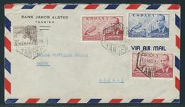 Spanisch Marokko 1948 Luftpostbrief Aus Tanger In Die Schweiz - Spanisch-Marokko