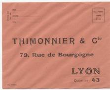 69 - THIMONIER & Cie - ENVELOPPE REPONSE - Zonder Classificatie