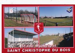 Carte De Stade De:    SAINT  CHRISTOPHE DU BOIS    *49*    FRANCE   STADE  MUNICIPAL    Référence :   LAF. 118 - Football