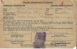 PRIGIONIERO POW PALERMO IDENTIFICATION CARD 1945 NUREMBERG GERMANIA - 1900-44 Victor Emmanuel III
