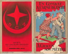 Rare Livret Publicitaire Humoristique Illustré Ste Des Couleurs Zinciques. Blanc Trimétal. AUBERVILLIERS - Pubblicitari