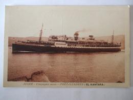 19112016 -  ALGERIE  - ALGER  -  COMPAGNIE MIXTE  -  PORT-VENDRES - EL KANTARA - Algiers