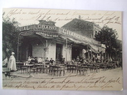 19112016 -  ALGERIE  - ORLEANSVILLE  -  PLACE SAINT ROBERT -  LE GRAND CAFE COLONIAL - Chlef (Orléansville)