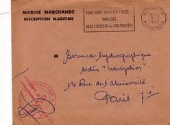 Lettre En Franchise  MARINE MARCHANDE INSCRIPTION  MARITIME   AUDIERNE FINISTERE - Marcofilie (Brieven)