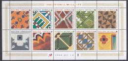 South Africa 1999 Traditional Wall Art 10v In Sheetlet ** Mnh (F5988) - Ongebruikt
