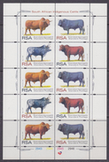 South Africa 1997 Cattle 4v In 1 Sheetlet ** Mnh (F5988B) - Ongebruikt