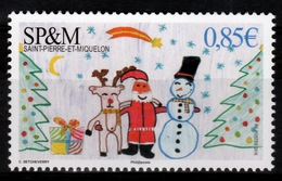 Saint Pierre And Miquelon, Christmas, 2016, MNH VF - Unused Stamps
