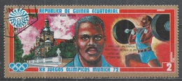 Equatorial Guinea 1972. Scott #7278 (U) J. Davis (USA), Weightlifting, London 1948, Helslinki 1952 - Guinée Equatoriale