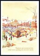 7760 - Alte Glückwunschkarte - Weihnachten Winterlandschaft - Planet - DDR 1962 - N- Gel TOP - Non Classificati
