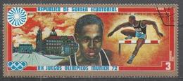 Equatorial Guinea 1972, Scott #7279 L. Calhoun (USA), 100M Hurdles, Melbourne 1956, Roma 1960 (U) - Guinée Equatoriale