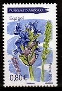 Andorra (French Adm.), Plant, Lavender, Espigol, 2016, MNH VF - Andorre Français